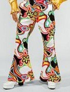 Flower Power Schlaghose 70er Jahre Mode Mottoparty Hippieoutfit 70er Jahre Mode 70er Jahre Kostum Mode