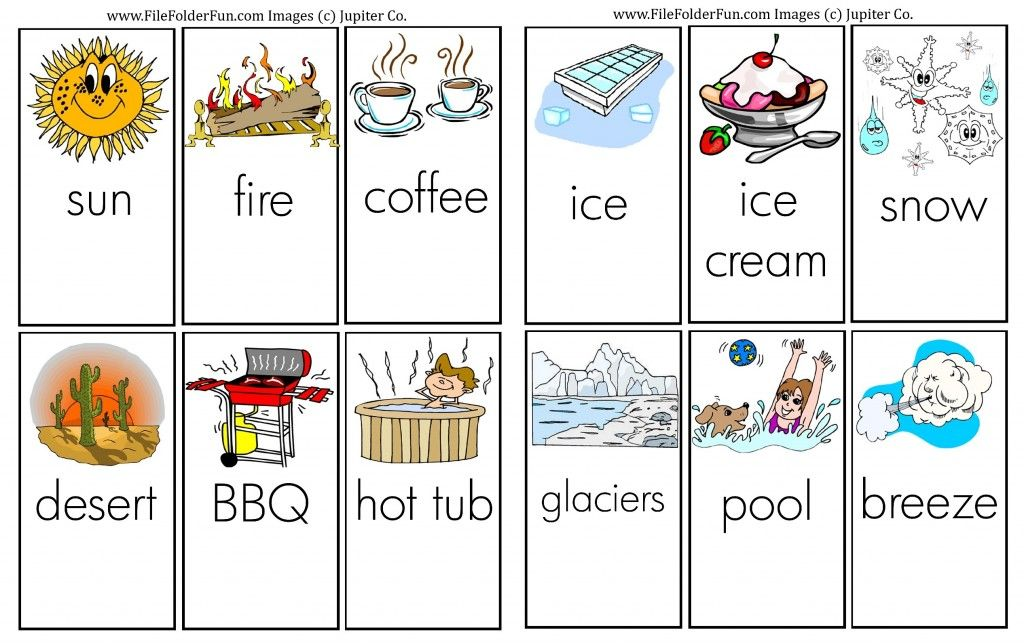 Learning About Hot & Cold Preschool science lessons