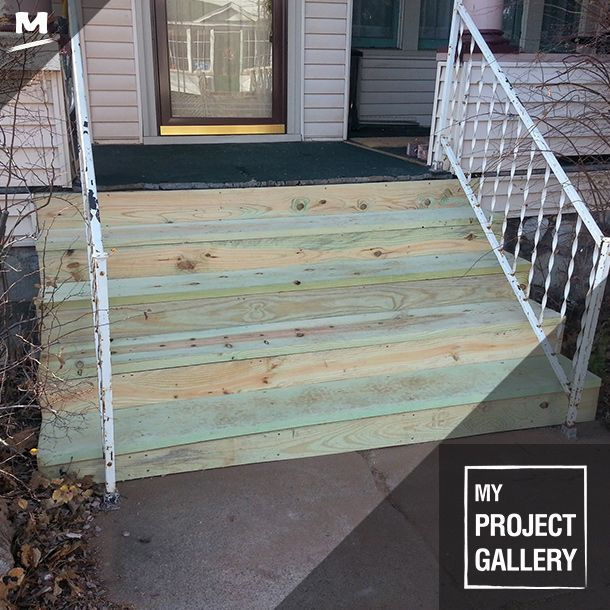 Best A Home Remodel Isn't Complete Without New Front Steps These Were Created With A Wooden Stair 400 x 300