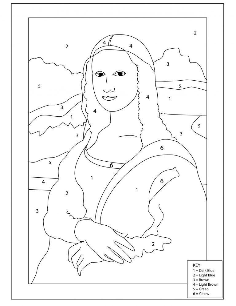 Mona Lisa Coloring Page Printable   Mona lisa drawing, Art ...