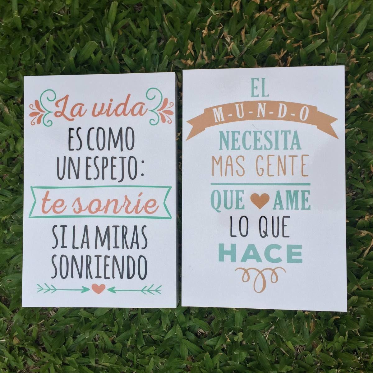 Cuadros Decorativos Frases Impresos Vinilos 20x30cm