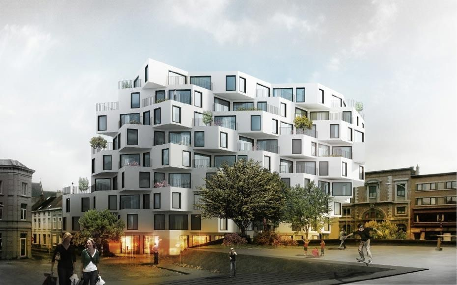 How do you like this new apartment idea? JDS architects re-imagine a prominent corner in Ghent into two options for luxurious apartment housing with plenty of light, air, views and access to outdoor terraces. Read more about this interesting project on: http://www.archello.com/en/project/keizer-karel-building    #Architecture #Design #Archello #Buildings #Belgium #Modern #new #apartments