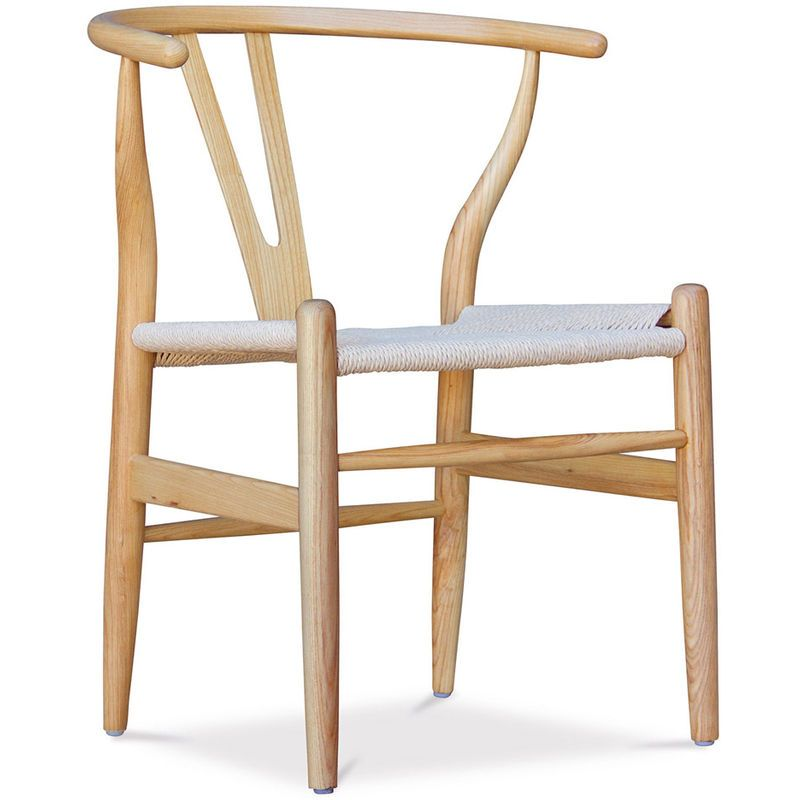 Chaise Wish Cw24 Desing Assise Naturelle Bois Naturel A55761 En 2020 Bois Naturel Chaise Design Chaise