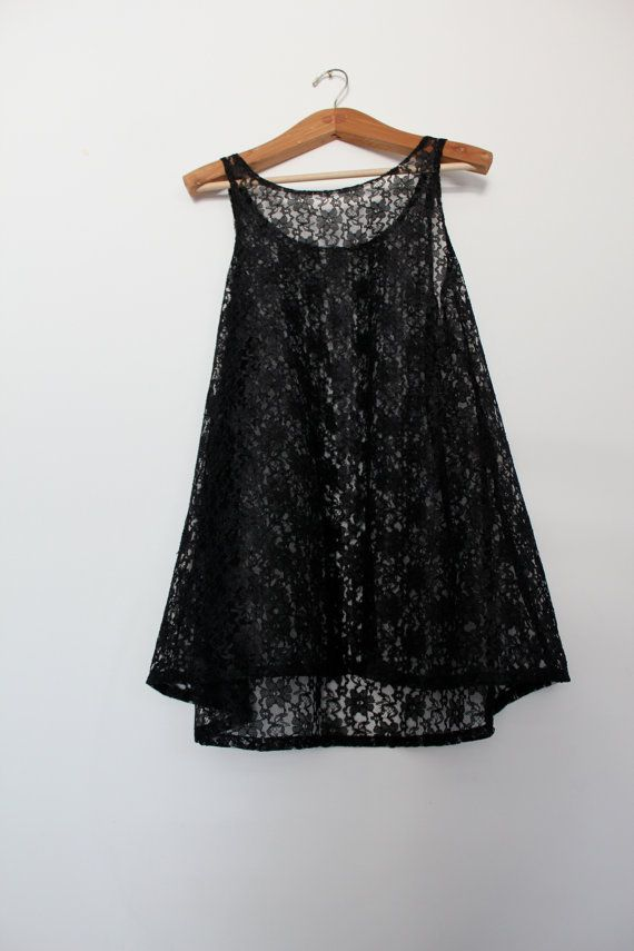 Black Lace Tent Dress by pineeyelo on Etsy $62.00 & Black Lace Tent Dress by pineeyelo on Etsy $62.00 | vintage ...