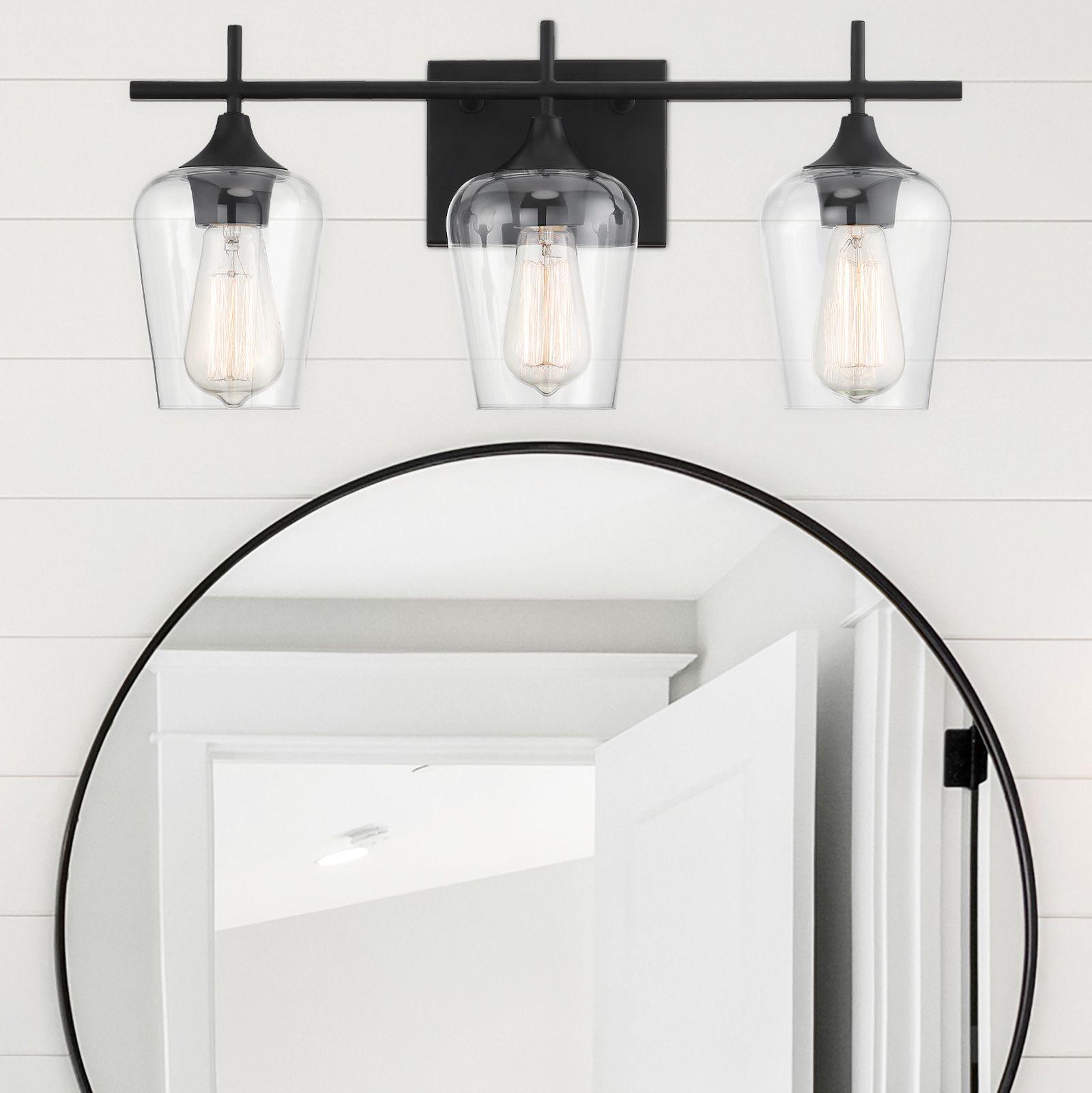 Savoy House Octave 3 Light Bathroom Vanity Light In Black Savoy House Lighting Bathroom Lighting Bathroom Vanity Lighting