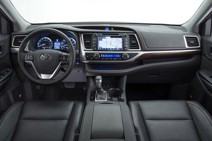 2016 Toyota Highlander Black Interior Photos