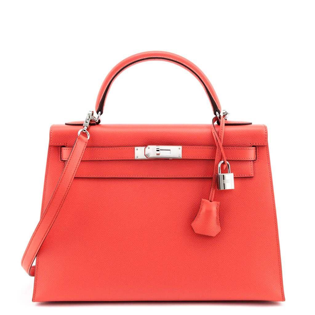 Hermes Rose Jaipur Epsom Kelly Ii Sellier 32 Preowned Hermes Canada Luxury Bags Gorgeous Bags Kelly