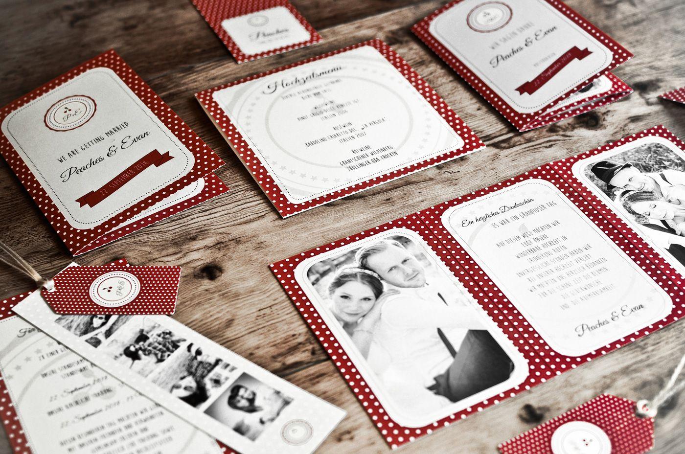 Einladungskarten Rockabilly  Hochzeit
