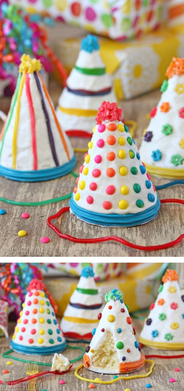 Birthday Party Hat Cakes Hat cake Birthday party hats and Mini cakes