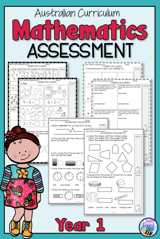 Mathematics Assessment Year 1 Australian Curriculum