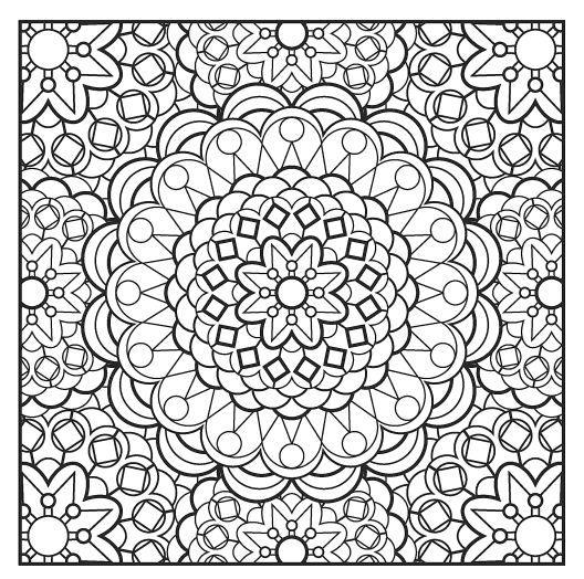 Kleurplaten Voor Volwassenen Mandala  Sbpractices