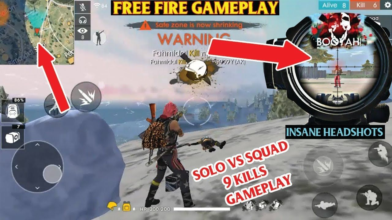 Free Fire Gameplay Solo Vs Squad 9 Kills Fahmid With Images
