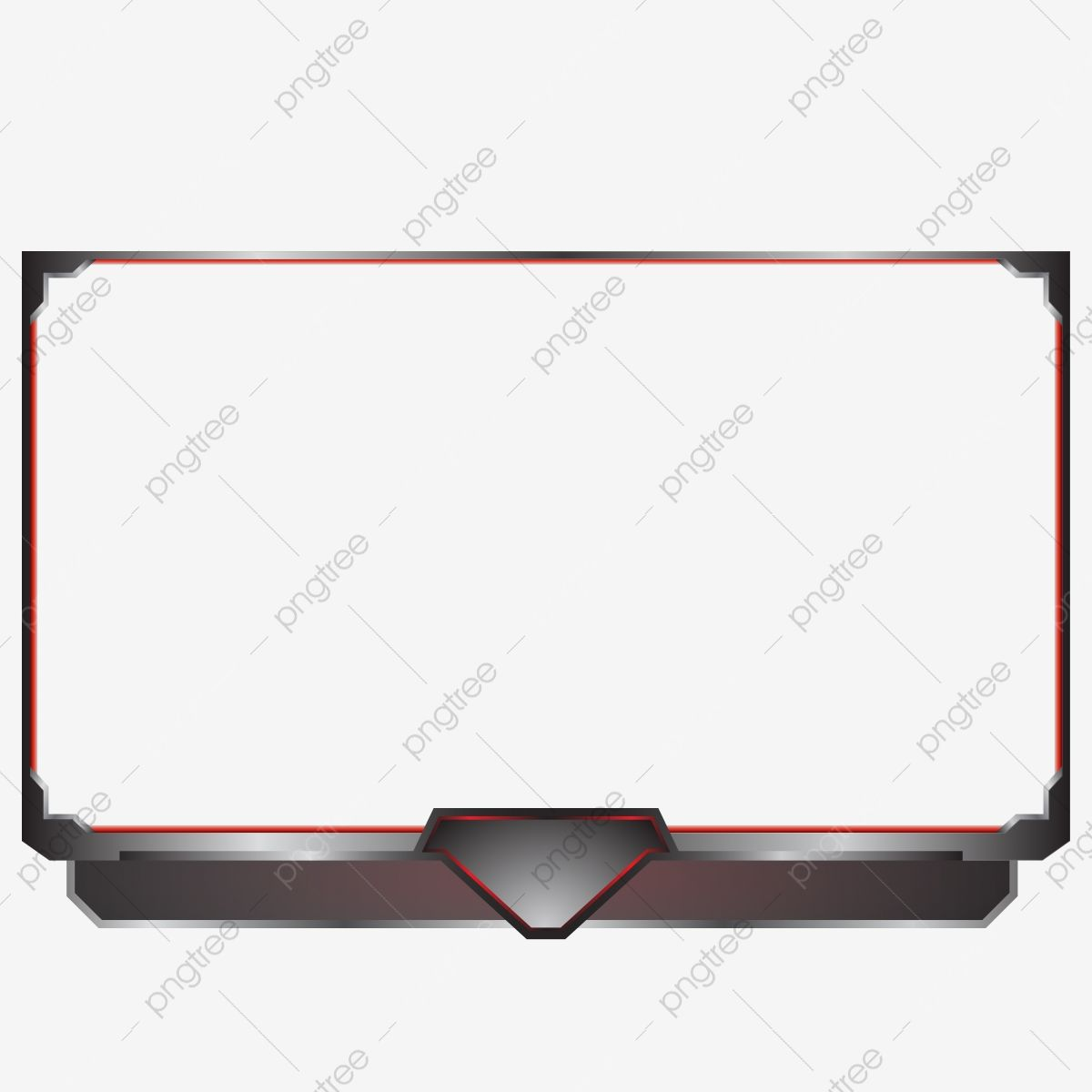 Streaming Overlay For Live Game Red Dark Metal Live Vector Stream Png And Vector With Transparent Background For Free Download Overlays Transparent Overlays Graphic Card