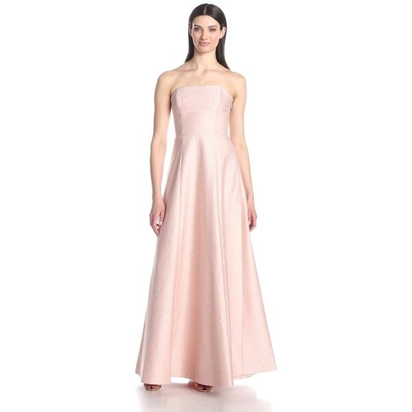 HALSTON HERITAGE Women\'s Strapless Jacquard Evening Gown (€195 ...
