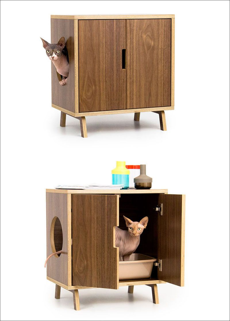 10 ideas for hiding your cat litter box. Black Bedroom Furniture Sets. Home Design Ideas
