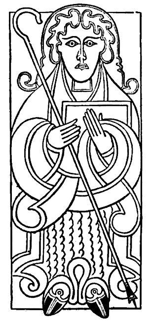 Celtic St Matthew From Karen S Whimsy Public Domain Art Dragon