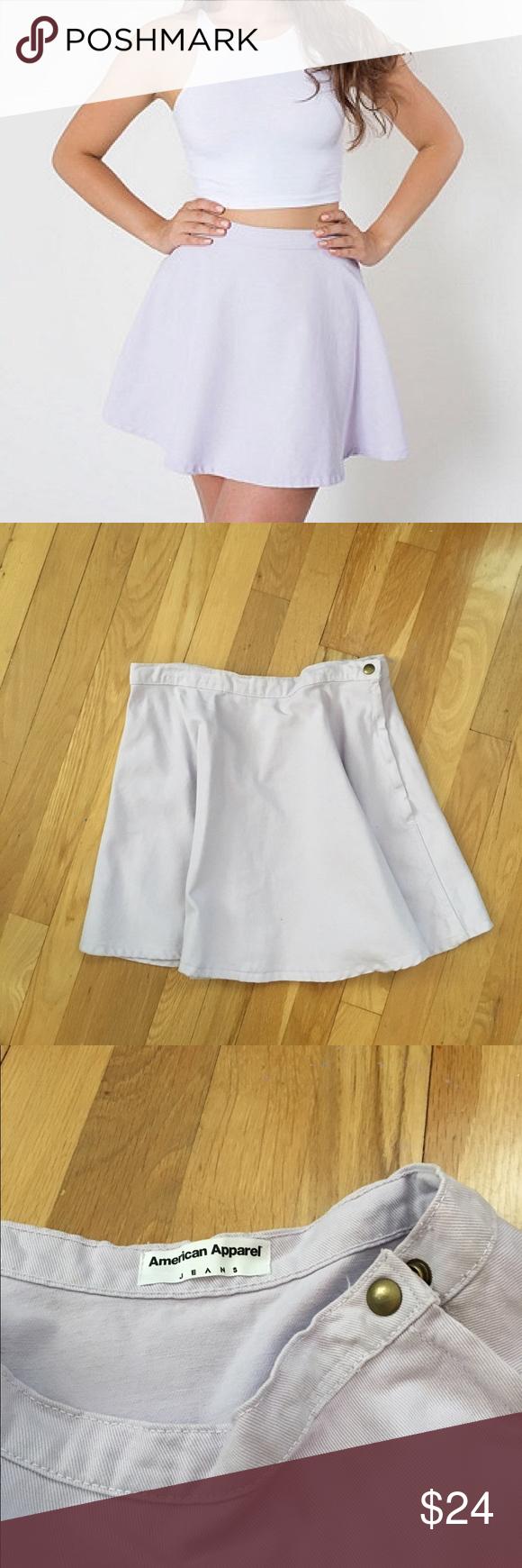 American apparel Lilac denim circle skirt Perfect condition, NWT American Apparel Skirts Circle & Skater