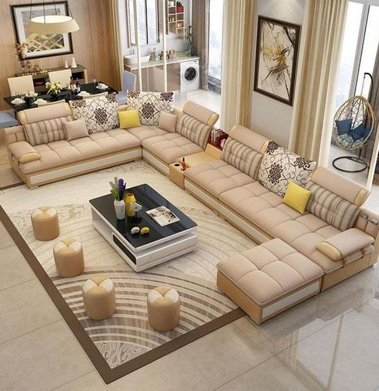 17 Cozy Living Room Seating Arrangement Design 9 Corner Sofa Design Corner Sectional Sofa Living Room Sofa Design