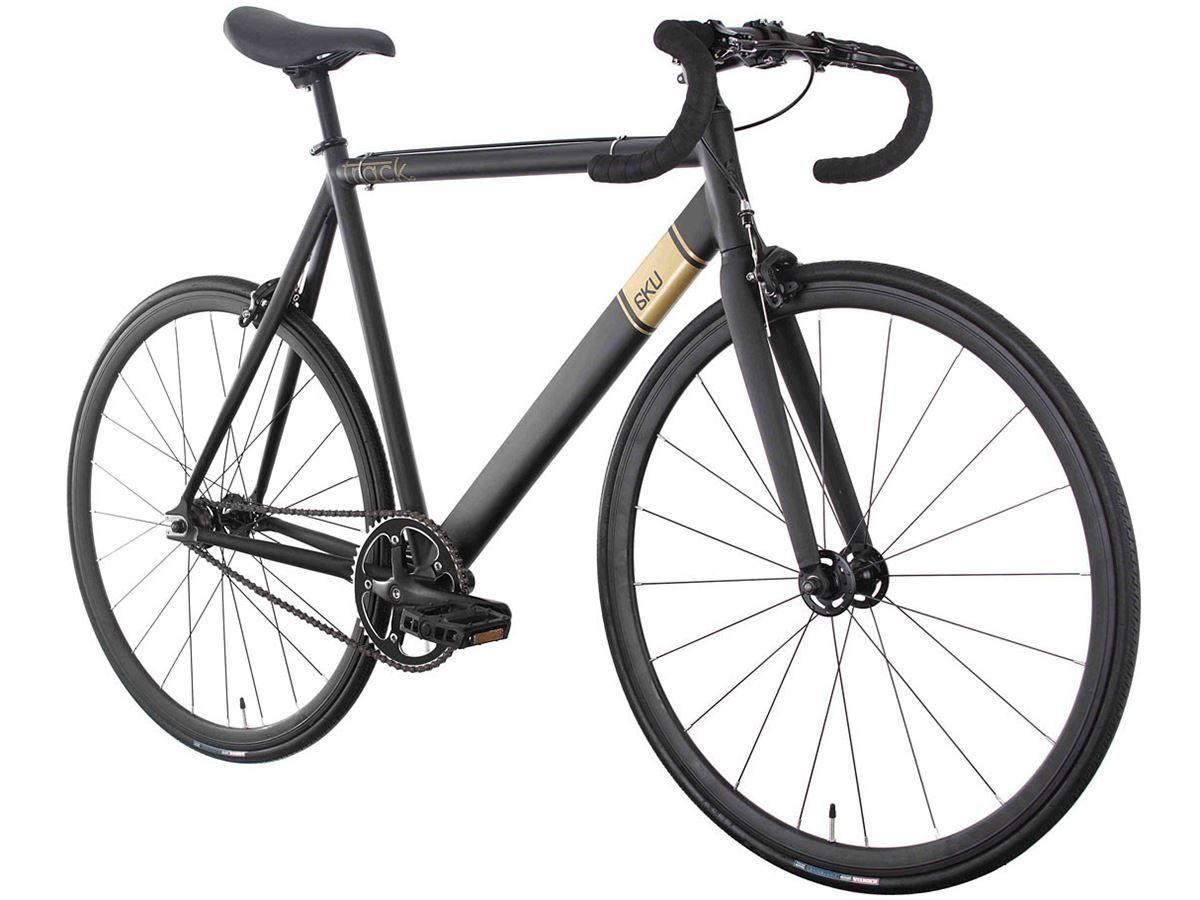 Show Details For 6ku Complete Track Bike Black Fixed Gear Bike