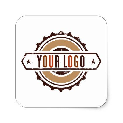 Your business logo stickers white s business logo cyo personalize customize diy special cyo business logo pinterest