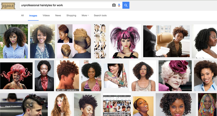If You Google Unprofessional Hairstyles For Work These Are The Problematic Results Unprofessional Hairstyles For Work Hair Styles Professional Hairstyles