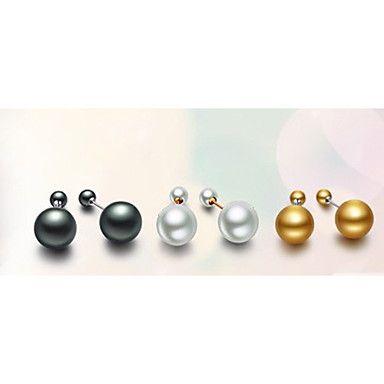 miki deux côtés stud perle de l'oreille – EUR € 19.90