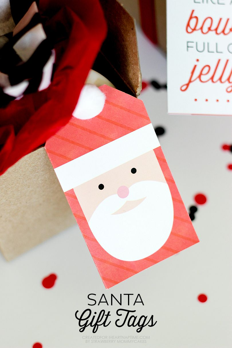 Santa gift tags santa gifts christmas gifts and gift adorable santa gift tags to go with your christmas gifts free download available on iheartnaptime negle Image collections