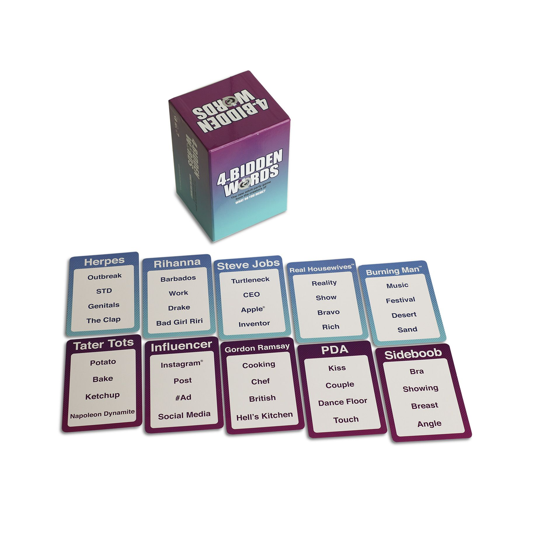 4 Bidden Words By What Do You Meme Game Card Games Easy Games For Kids Classy Bachelorette Party Games