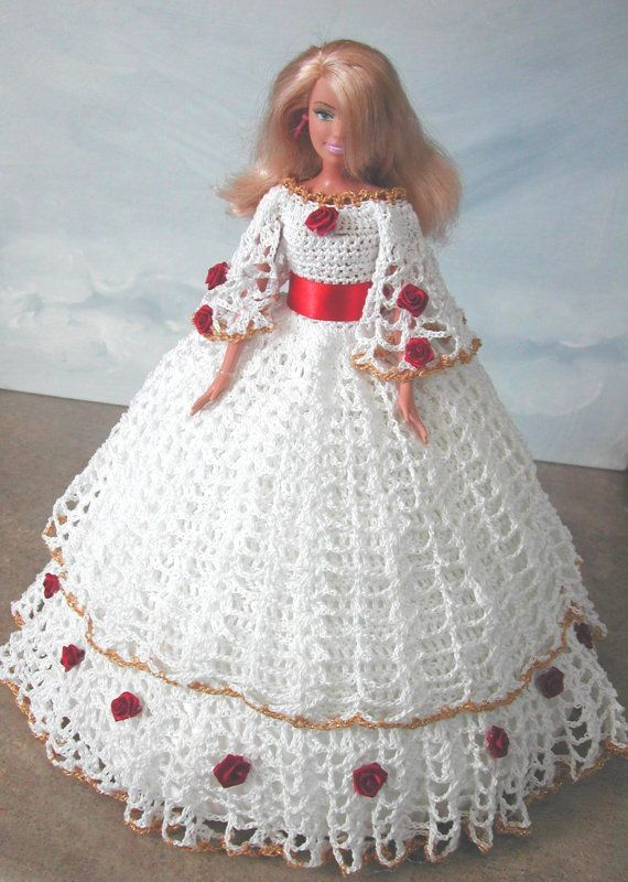 Crochet Fashion Doll Barbie Pattern- #626 SOUTHERN DESIGN #9 ...