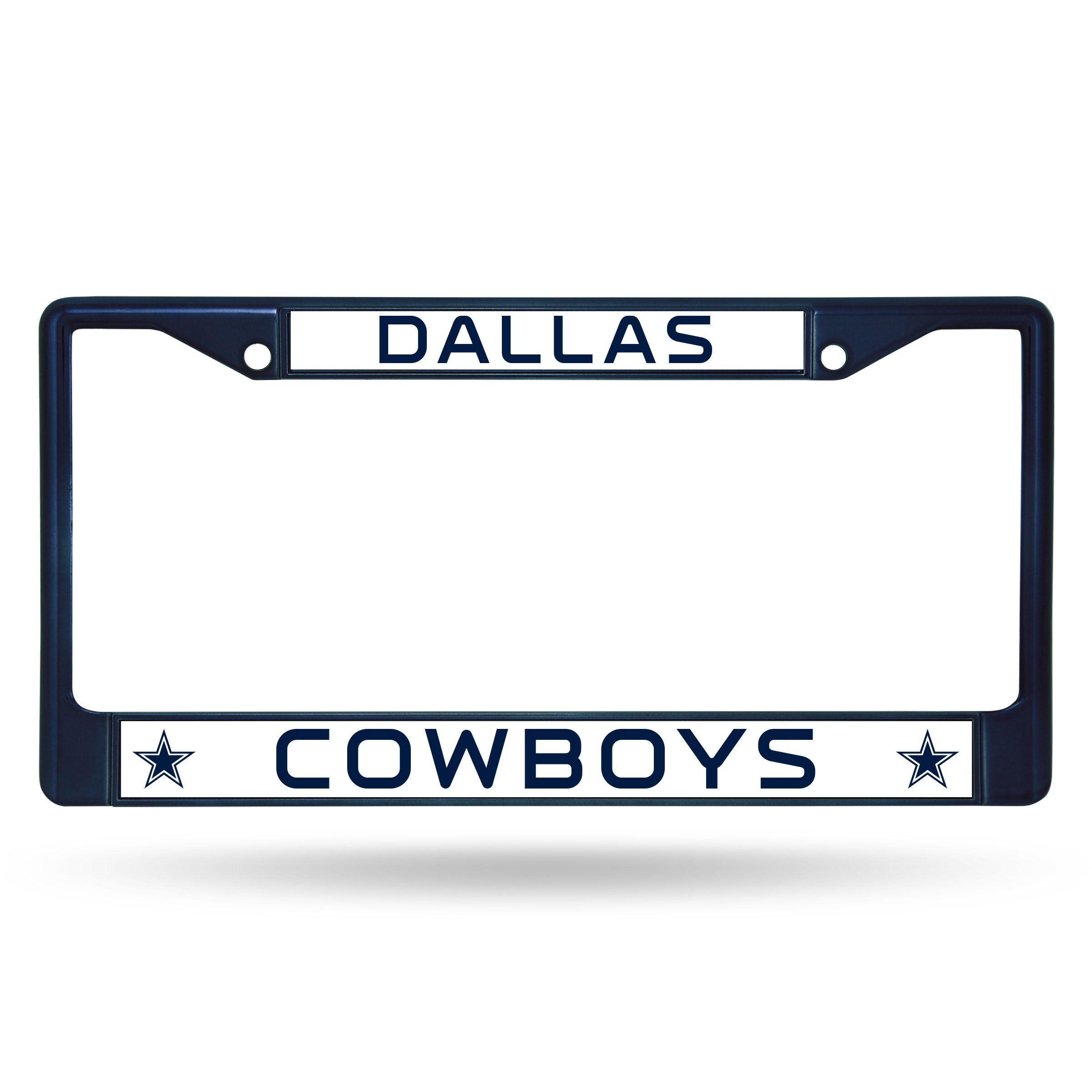 NFL Dallas Cowboys Metal Chrome License Plate Frame Universal NEW