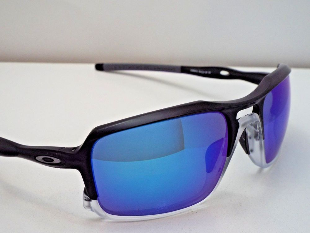 bd71e9981d2 Authentic Oakley OO9266-04 Triggerman Black Sapphire Iridium Pol Sunglasses   255  fashion  clothing  shoes  accessories  unisexclothingshoesaccs ...