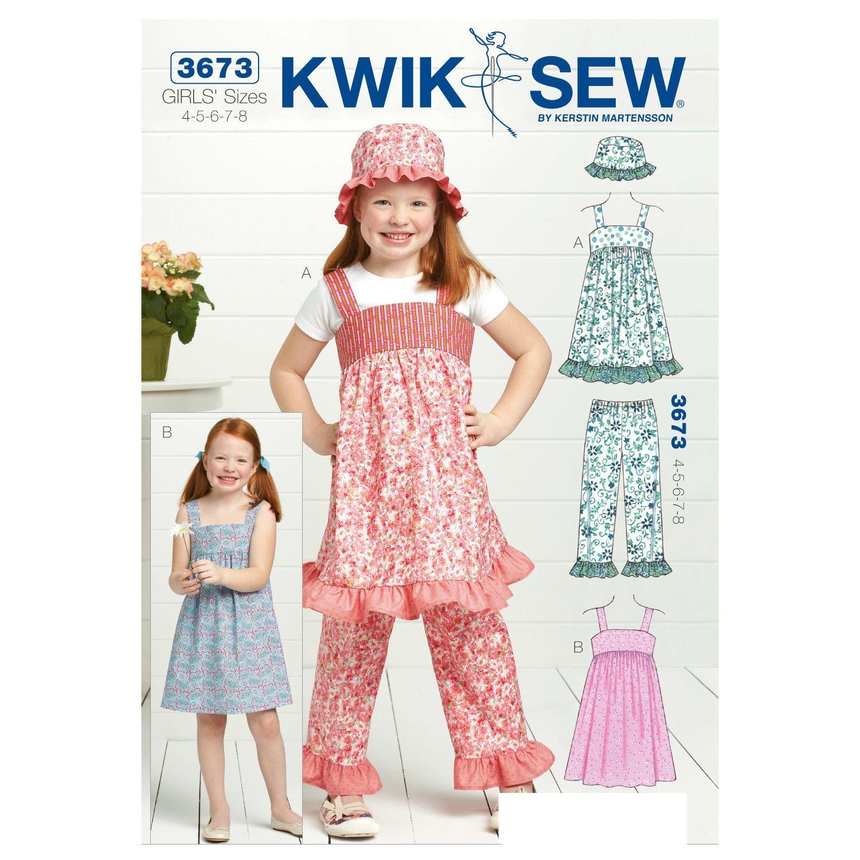 Mccall Pattern K3673 4-5-6-7-8 -Kwik Sew Pattern