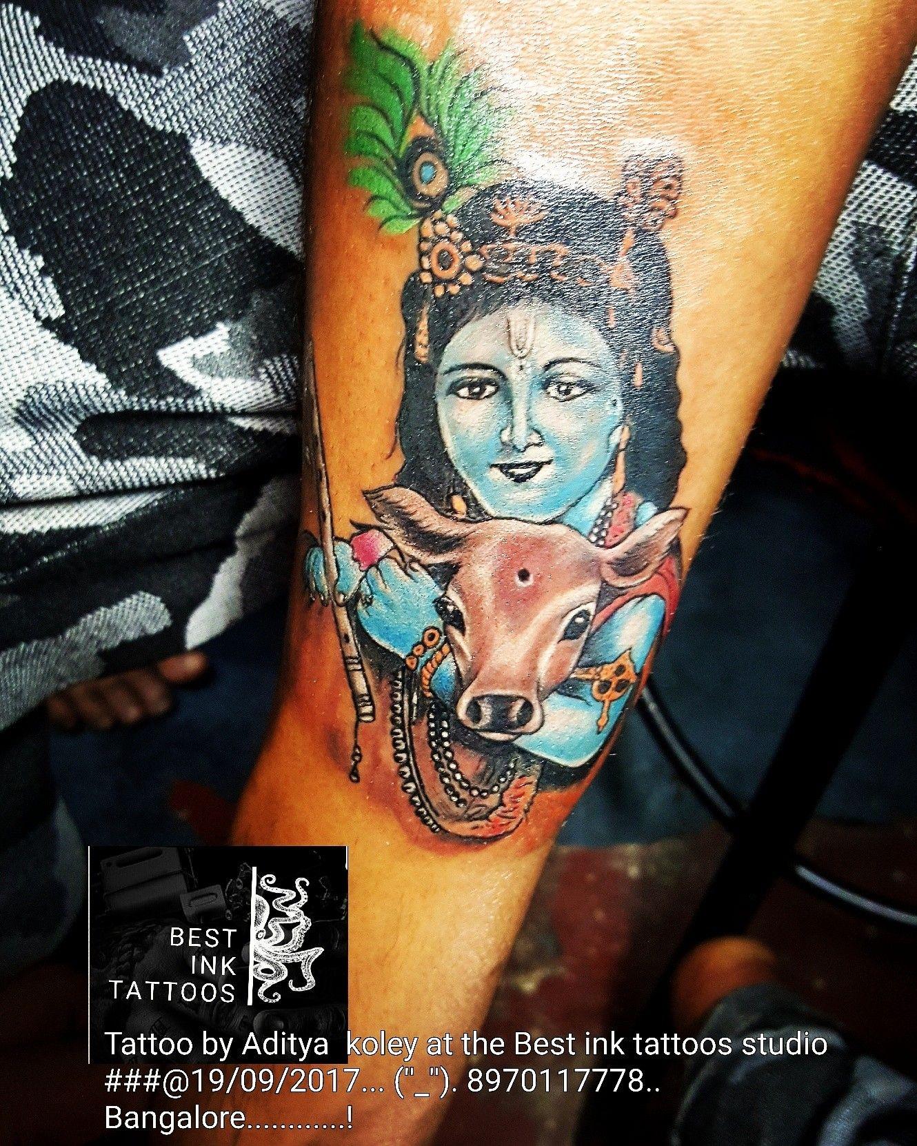 Lord Krishna tattoo..best colour tattoo.. Artist@aditya koley ...