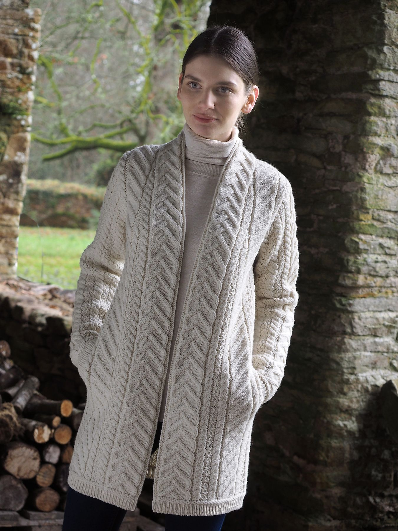 Ladies Shawl Aran Cardigan by Natallia Kulikouskaya for AranCrafts ...