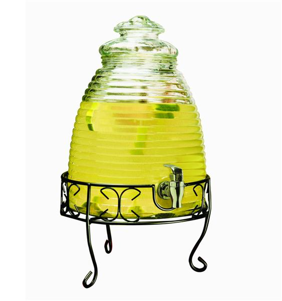 """ Beehive"" Drink Dispenser With Metal Stand By Parnell"