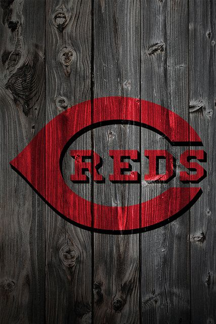 A Cincinnati Reds Wood Themed Phone Wallpaper Use For Your Own Just Be Careful And Watch Out Splinters Though