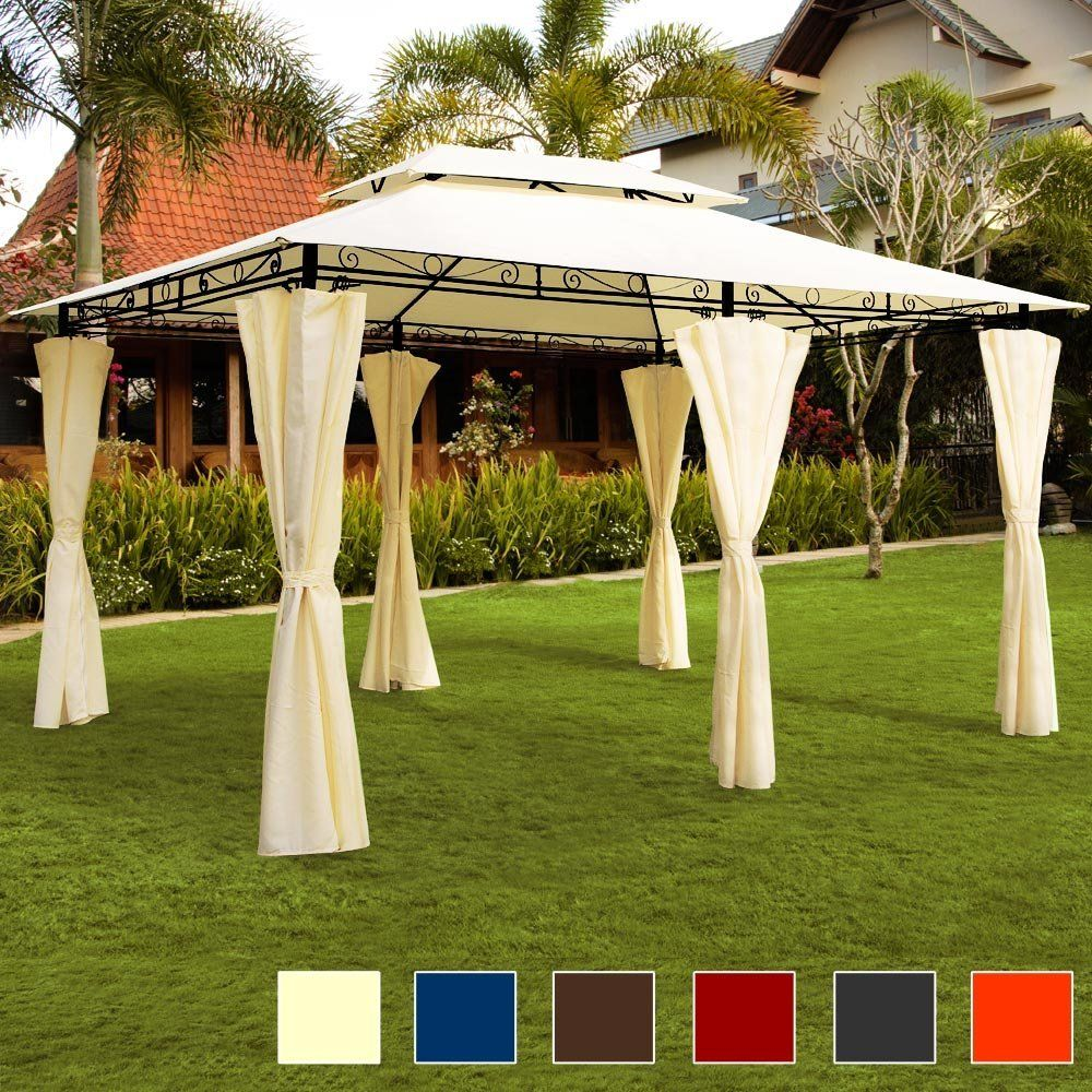 Spectacular AmazonSmile Luxus Pavillon TOPAS Festzelt x Partyzelt Garten Pavillion Gartenzelt Gartenpavillon Beige