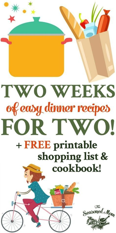 Two Weeks of Easy Dinner Recipes for Two! images