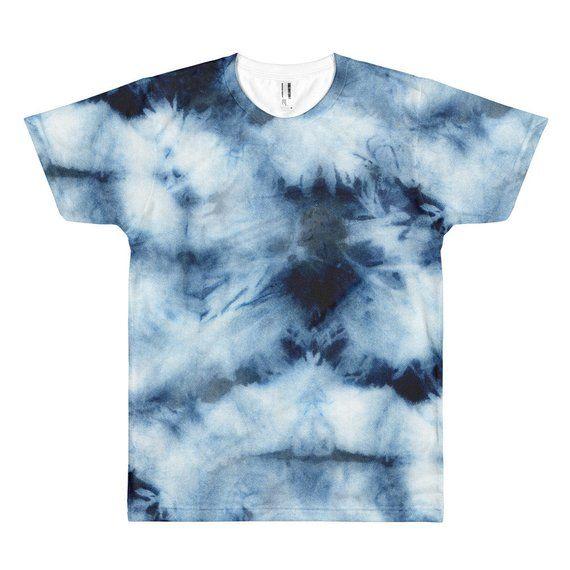 9d26b673f Indigo Tie Dye Tshirt, Indigo Tie Dye Tee, Mens Tie Dye Shirt, Womens Tie  Dye tshirt, Tie Dye Graphi