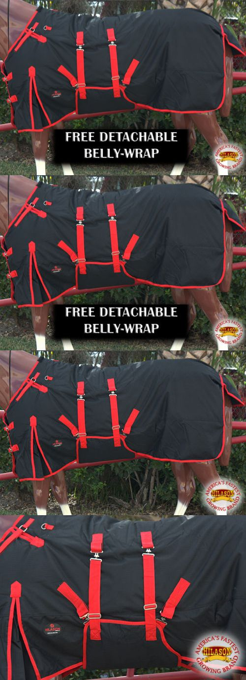 Horse Blankets and Sheets 85275: 75 Hilason 1200D Waterproof Poly Turnout Horse Winter Belly Wrap Sheet Black -> BUY IT NOW ONLY: $53.95 on eBay!