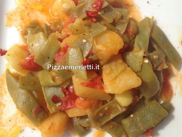 Fagiolini corallo in umido con patate - Pizza e Merletti