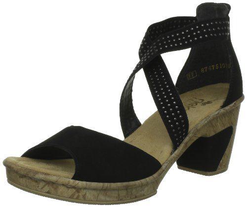 Rieker Womens Rieker Damen Sandalette Plateau Black Schwarz (schwarz/schwarz 00) Size: 37 Rieker Antistress http://www.amazon.co.uk/dp/B009T3EFUA/ref=cm_sw_r_pi_dp_Lo1Zvb1T69916