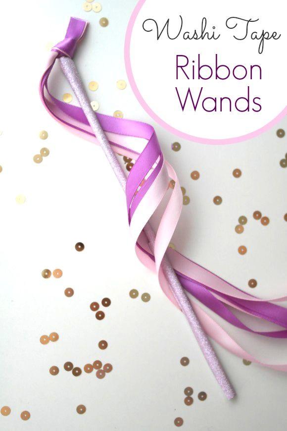 Ribbon wands diy ribbon wands wand and fairy for Ribbon wands