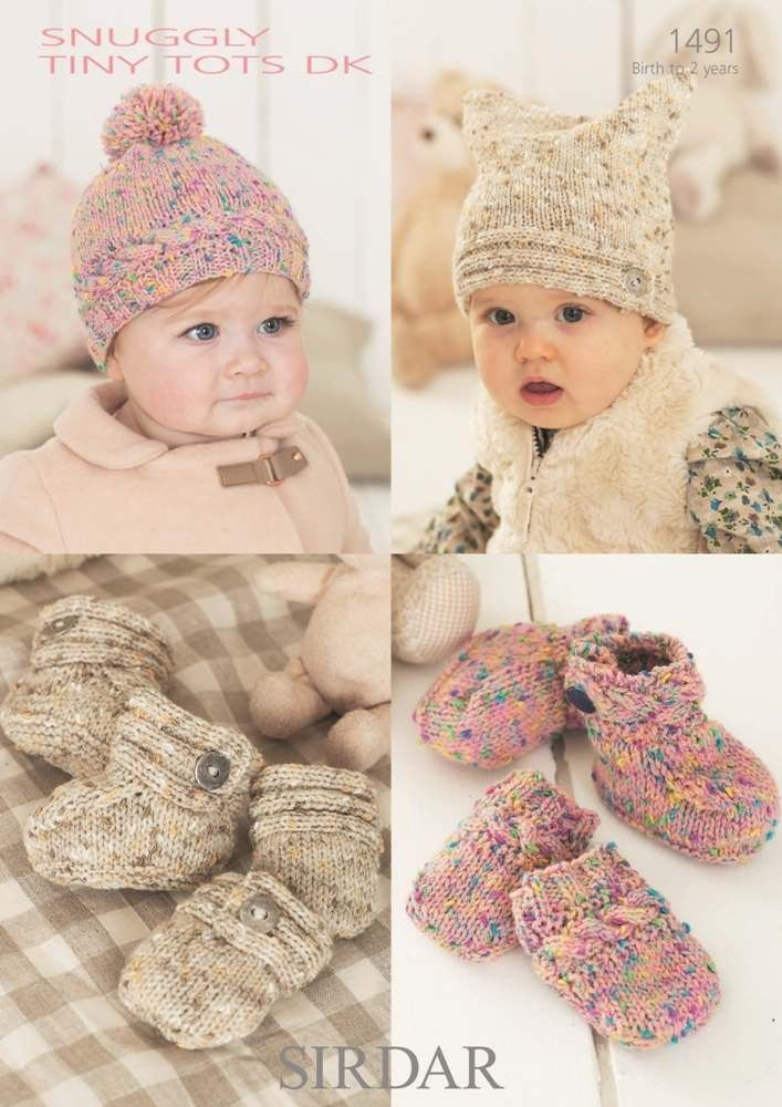 Baby accessories in Sirdar Snuggly Tiny Tots Dk | Black Sheep Wools ...