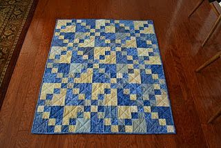 Baby boy quilt       I've always loved this simple pattern