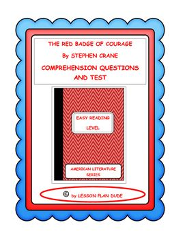 The Red Badge Of Courage Questions And Test Adapted Version This Or That Questions Comprehension Questions How To Plan
