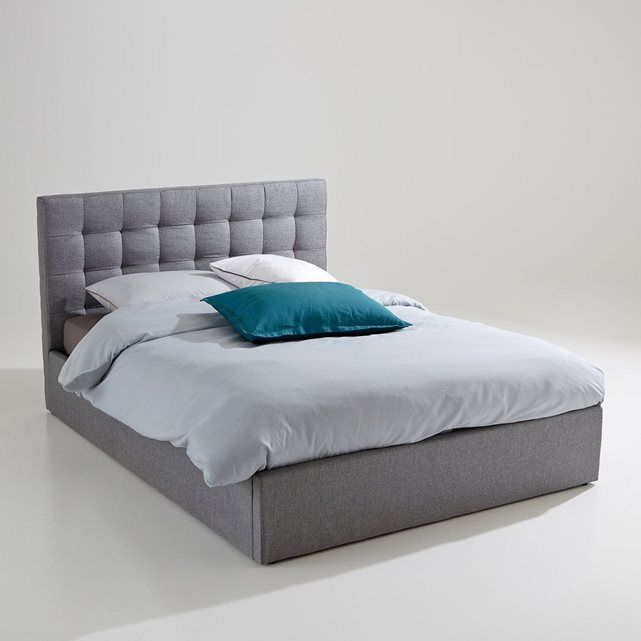 lit coffre avec sommier relevable gennie | lit coffre, la redoute