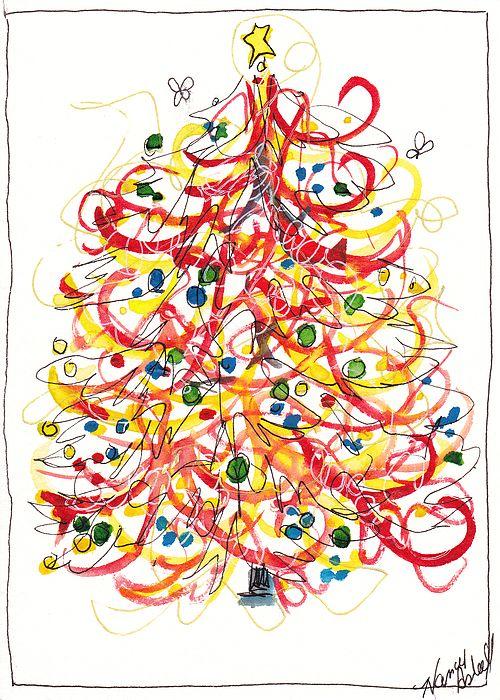 Fiesta Christmas Tree Painting