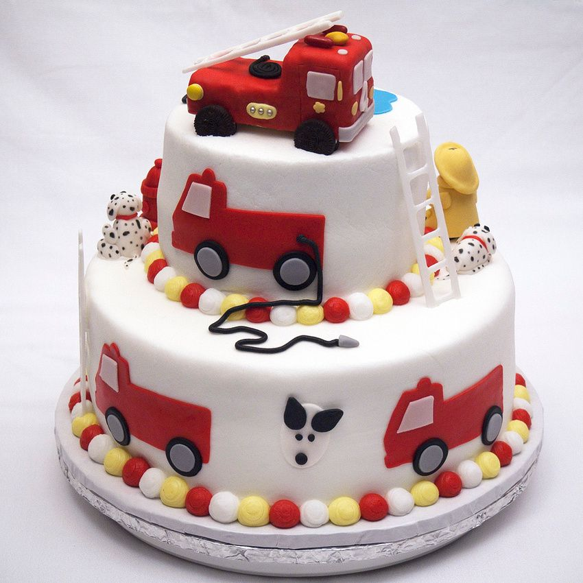 Truck Birthday Cakes, Fire