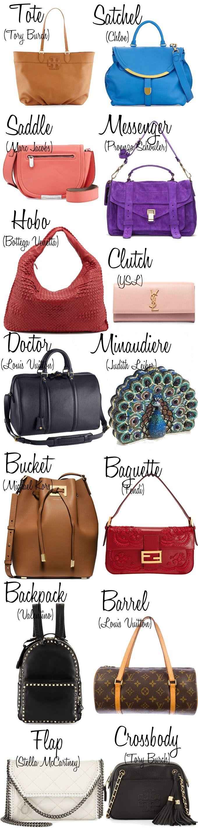 34bbfeadb Dicionário de Bolsas | Bag, Purse and Designer bags